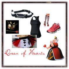 """""""Queen of Hearts Running Costume"""" by mrsdav14 on Polyvore"""