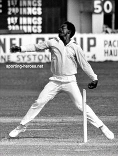 Roy Fredericks bowling left-arm chinamen and googlies, probably for Glamorgan in…
