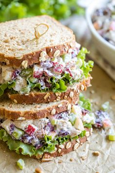 An easy Turkey Salad recipe bursting with fresh, vibrant flavors and textures. Truly the ultimate way to enjoy leftover Thanksgiving turkey! Thanksgiving Leftover Recipes, Leftover Turkey Recipes, Leftovers Recipes, Thanksgiving Turkey, Turkey Salad Sandwich, Turkey Sandwiches, Turkey Crockpot Recipes, Cooking Recipes, Meat Recipes