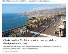 Oferta Revelion Insula Madeira Perioada 30 dec- 6 ian 2018 Petrece perioada de iarna in insula primaverii eterne   1375 euro/adult/pachet, cazare in camera Sea View Double Room