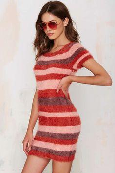 Knitz by For Love & Lemons Fleetwood Sweater Dress - Day | Body-Con | For Love & Lemons