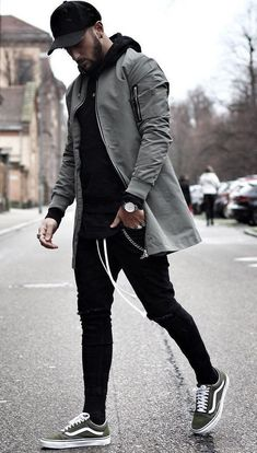 Black hoodie with black joggers and cap #MensFashion