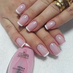 Want some ideas for wedding nail polish designs? This article is a collection of our favorite nail polish designs for your special day. Read for inspiration French Nails, Manicure And Pedicure, Gel Nails, Cute Nails, Pretty Nails, White Tip Nails, Wedding Nail Polish, Natural Nail Designs, Bride Nails