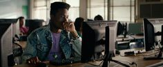 Dell monitor used by Shameik Moore in DOPE (2015) @dell