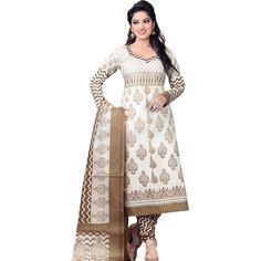 Buy NVD ENTERPRICE White Cotton Dress Material by NVD ENTERPRICE, on Paytm, Price: Rs.599?utm_medium=pintrest