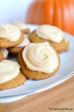 Iced Pumpkin Spice Cookies