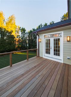 Modern Deck | cable railing