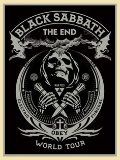 Shepard Fairey Black Sabbath The End Tour Posters Release
