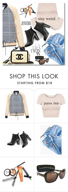 """""""Stay Weird"""" by vespagirl ❤ liked on Polyvore featuring 3.1 Phillip Lim, SWEET MANGO, MANGO, Borghese, Chanel, mango, PhilipLim and wintersunnies"""