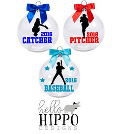 Christmas Ornament for Baseball/Personalized Baseball Ornament/ Baseball Team Gift/Baseball Coach Gift/