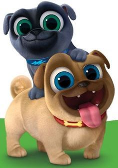 10 small PUPPY DOG PALS VINYL stickers