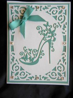 Handmade Birthday Card Using Tattered Lace High Heel Glam Shoe & Happy Birthday #Handmade #BirthdayAdult