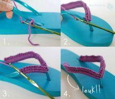 Leuk idee voor je slippers!