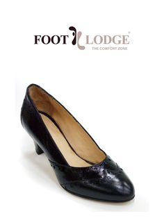 Foot Lodge Mid-heel Patterned Leather Court Shoe for Women. Code: 12-77