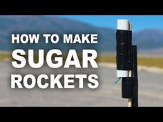 Make Your Own Rocket Engine Using Sugar and Kitty Litter - http://www.diyave.com/make-your-own-rocket-engine-using-sugar-and-kitty-litter/
