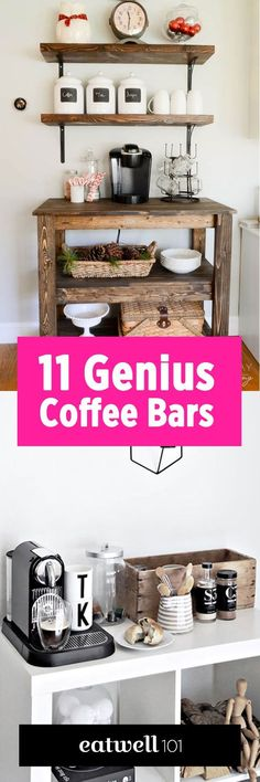 Organize your coffee gear. Create the perfect little spot for all your morning coffee dates!