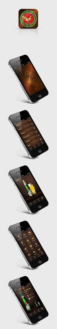 Zlatý Bažant iOS app by Martin Schurdak, via Behance / #behance #gui #ui