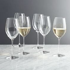 Sale ends soon. Shop Black and White Collection 16 oz. White Wine Glasses, Set of Timelessly classic, these simply designed white wine glasses put the focus on fine vintage or everyday whites. Wine Sale, White Wine Glasses, Types Of Wine, Old Fashioned Glass, Wine Glass Set, Wine Bottle Crafts, Wine Storage, Dinnerware Sets, Wine Making