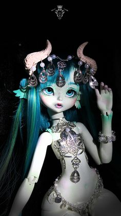 Fantasy | Whimsical | Strange | Mythical | Creative | Creatures | Dolls | Sculptures | bjd Satyne, silver clothes