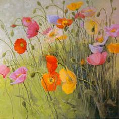 Poppies painting by Shirley Novak