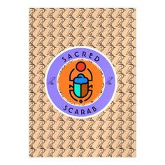 Sacred Scarab Magnetic Card - invitations personalize custom special event invitation idea style party card cards