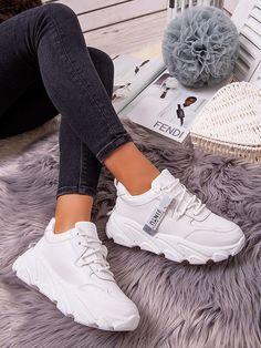 Dámske biele tenisky YK104-9B Modeling, Sport, Sneakers, Style, Fashion, Tennis Sneakers, Deporte, Slippers, Fashion Styles