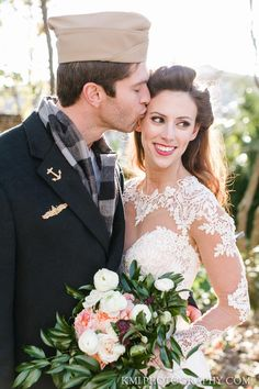 Vintage inspired shoot by The Coastal Knot featuring a Martina Liana designer wedding gown
