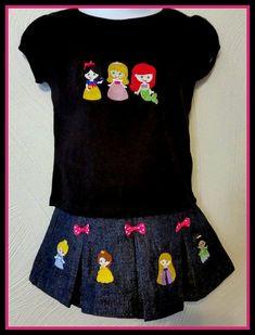 Mini Princess Puff Sleeve T-shirt & Pleated Skort Set Disney
