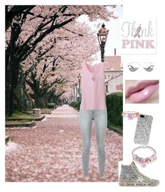 Pink & Grey on a Chill Spring Day by mommastephud on Polyvore featuring polyvore, fashion, style, Uniqlo, 7 For All Mankind, Golden Goose, Bling Jewelry, Yves Saint Laurent, Tiffany & Co. and But Another Innocent Tale