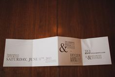 This accordion fold invite allows for great use of white space. This could be applied to any invite theme/style.