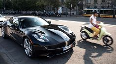Cool shot of the Fisker Karma