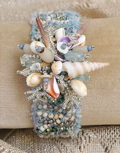 Cuff by Myra Wood....this would be pretty without the shells....perhaps with…