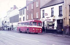 Eynons of Trimsaran Bus, Lammas Street, Carmarthen, 1974