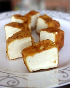 Tofu with a nice crust of rice flour and spices
