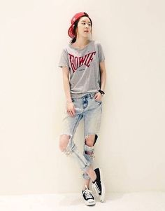 Here's Cool casual korean fashion Korean Fashion Tomboy, Korean Fashion Winter, Korean Street Fashion, Ulzzang Fashion, Korea Fashion, Kpop Fashion, Asian Fashion, Girl Fashion, Fashion Outfits