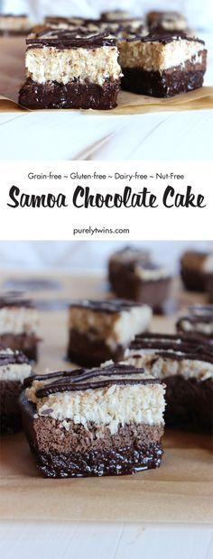 The Best Samoa Chocolate Cake