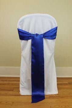 Royal Blue Satin Chair Sashes