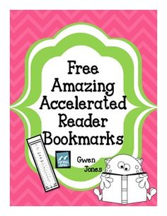 Amazing Accelerated Reader Bookmarks: Free printable bookmarks for students to keep track of their reading level.