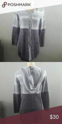 STYLE&CO SWEATER HOODIE Beautiful ombre grey colored hoodie! Perfect for autumn season!! Brand new! Style & Co Sweaters