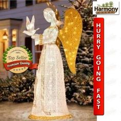 Animated angel with horn christmas decoration horn angel and lighted angel outdoor christmas decorations lighted angel outdoor throughout size 1000 x 1000 lighted angel lawn decoration lighting can enhance any room aloadofball Image collections