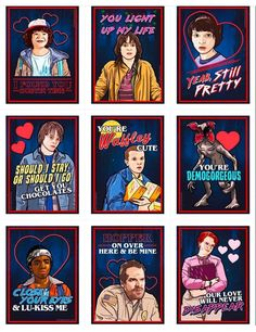Stranger Things Valentines