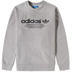 Adidas 3 Streifen Crew Sweat ($61) ❤ liked on Polyvore featuring men's fashion, men's clothing, men's hoodies, men's sweatshirts, men, adidas, sweatshirt, tops, mens sports sweatshirts and mens sweatshirts and hoodies
