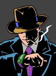 Dick Tracy, pop art, smoking. Gleenway's Inspiration