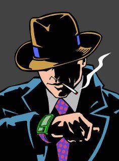 Dick Tracy, pop art, smoking