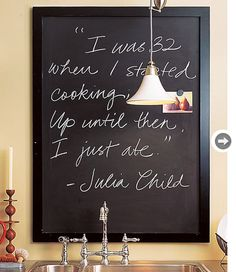 Framed chalkboards  These chalkboard frames are great multi-purpose items. Display photos and write messages, reminders or important dates for the whole family to see. The gallery frames make it easy to mix them in with an art collection or photo frames on your wall. Pottery Barn, $62-$83.