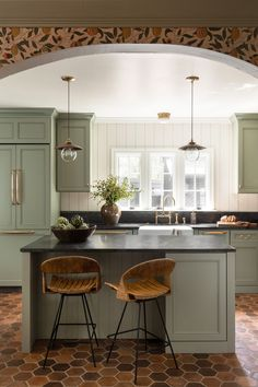 200 Best Green Kitchen Images In 2020 Green Kitchen Green Cabinets Kitchen Inspirations