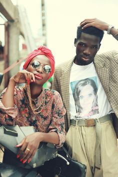This one of my favorite pictures ever! #fashion #style #african #fierce #headscarf #colorful