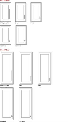 Knobs and pulls from Hardware Resources will set off the entire room when they match the relative scale of your drawers and doors. The right proportions make a big difference. To help you choose the correct size of decorative hardware, use our Relative Scale Visualization Tool for Small Doors.