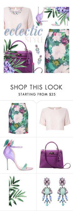 """Pencil Skirt Contest! Enter!"" by kearalachelle ❤ liked on Polyvore featuring Balenciaga, True Decadence, Sophia Webster, Hermès, Badgley Mischka and MAC Cosmetics"