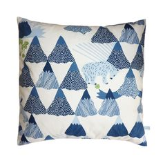 Limited edition mountain cushion from Custom Made.